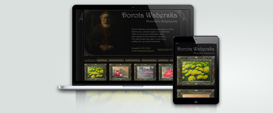 Responsywna strona internetowa Doroty Waberskiej. Malarstwo Artystyczne.