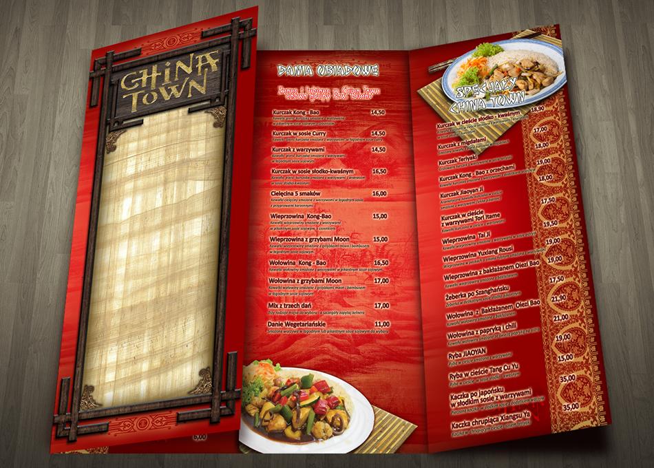 Projektowanie kart menu