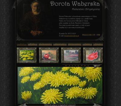 Strona internetowa Doroty Waberskiej. Malarstwo Artystyczne.