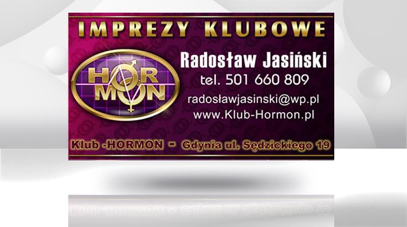 Projekt wizytówki klubu Hormon z Gdyni