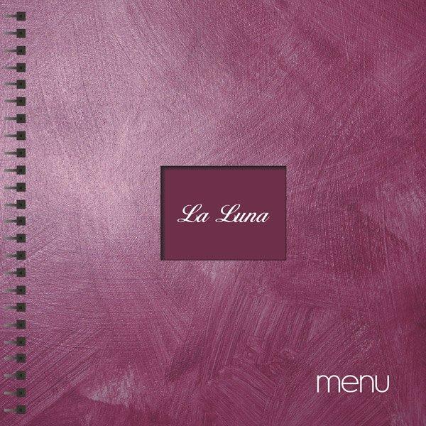 """Karta menu restauracji """"La Luna"""" z Gdyni."""