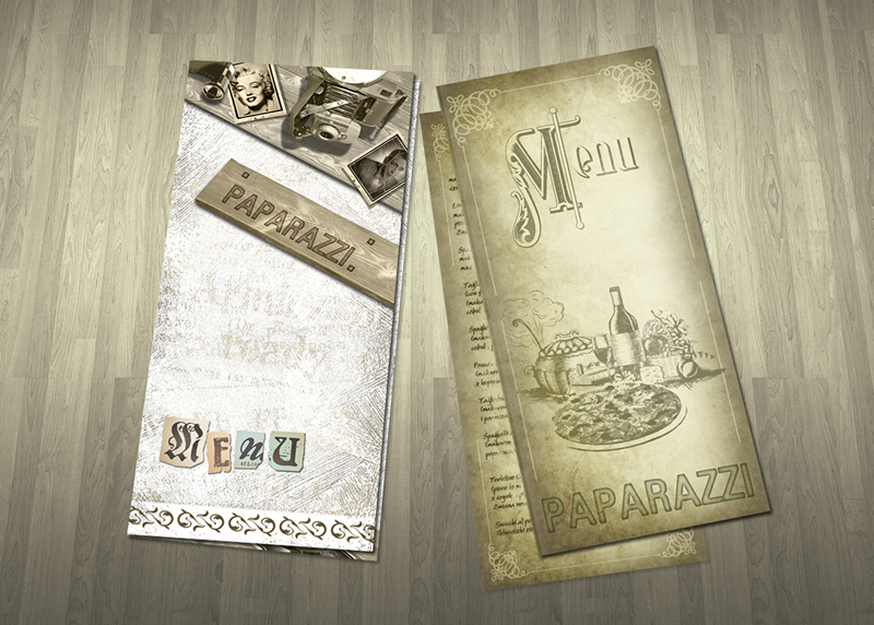 Karta menu restauracji Paparazzi