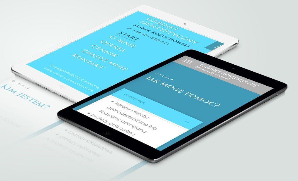 W pełni dostosowana do urządzeń mobilnych strona internetowa gabinetu dentystycznego z Gdyni.