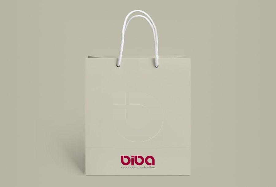"Torba z logotypem firmy ""Biba visual communication"""