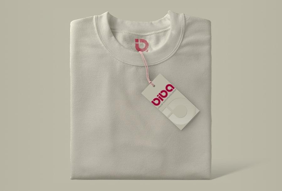 "Koszulka z logo firmy ""Biba visual communication"""