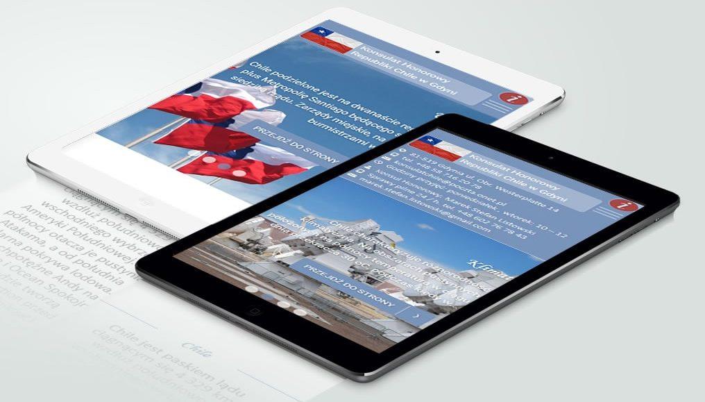 Mobilna strona CMS Konsulatu Honorowego Republiki Chile w Gdyni.