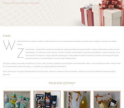 """Projekt sklepu internetowego dla firmy """"GotowyPrezent.pl""""."""