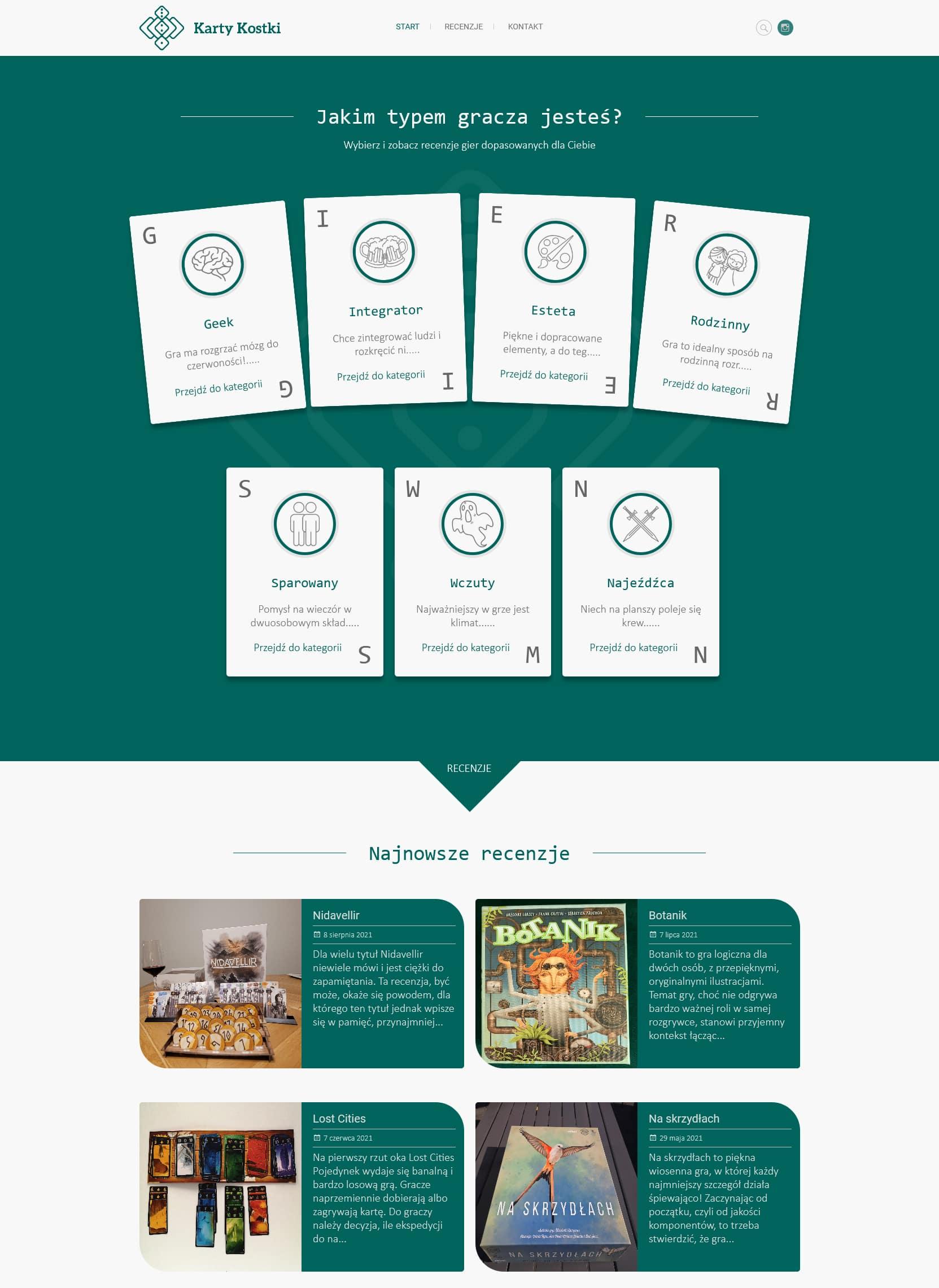 """Projekt i realizacja strony internetowej z panelem CMS dla firmy """"Karty Kostki""""."""